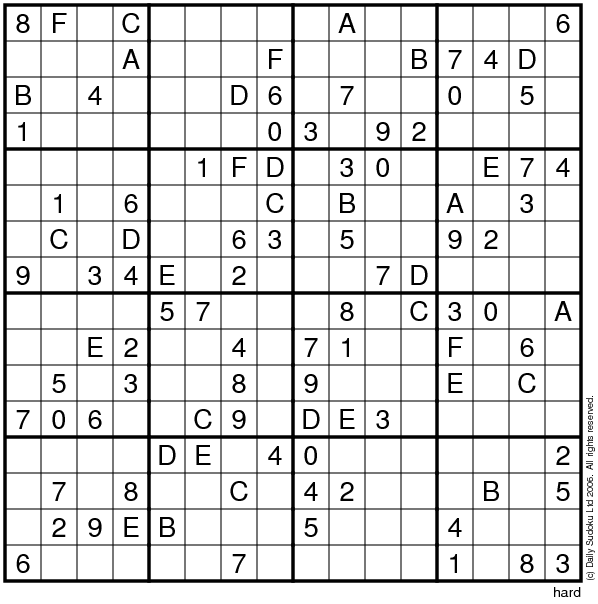 Exceptional image within sudoku 16x16 printable