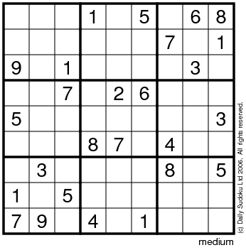 Printable Sudoku  Kids on The Daily Sudoku